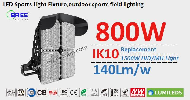 800W G2 series outdoor sports field lighting