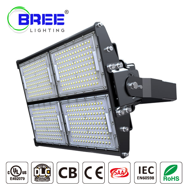 LED Stadium Light 480W,Super Bright Outdoor Flood Light (1000W Equivalent),IP65 Waterproof