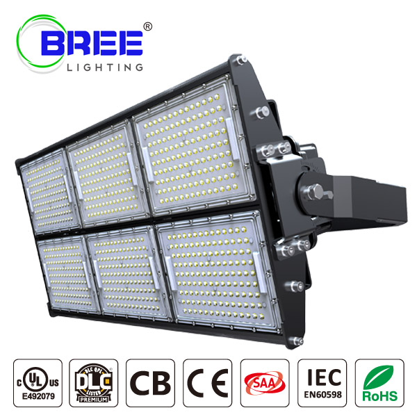 LED Stadium Light 720W,Super Bright Outdoor Flood Light (1000W Equivalent), IP65 Waterproof