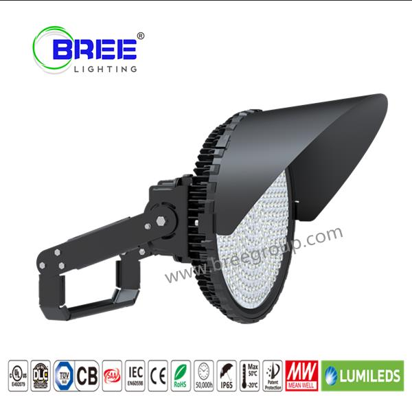 300 Watt LED Sports Light,Round Flood Light,Outdoor Sports Field Lighting Fixture,Stadium LED Lighting,Sports field lighting